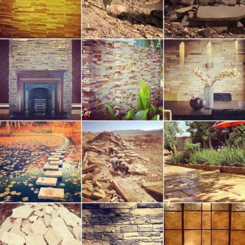 فروش انواع سنگ های ساختمانی و ورقه ای